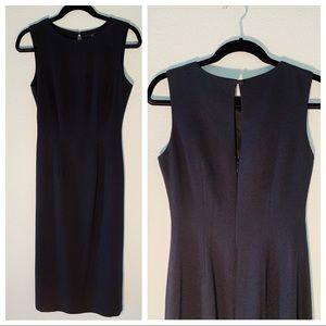 Carole Little High Neck Fitted Long Black Dress